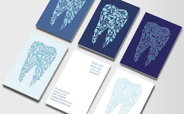 Artistic dental business cards dental design pinterest dental artistic dental business cards colourmoves