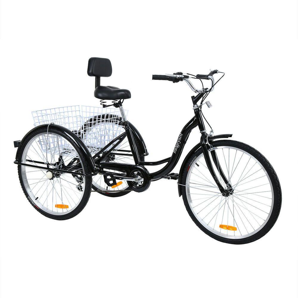 Ebay Sponsored Black Frame Shimano 7 Speed Adult 26 3 Wheel