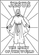 free printable christian bible colouring pages for kids jesus — the light of the world // kids