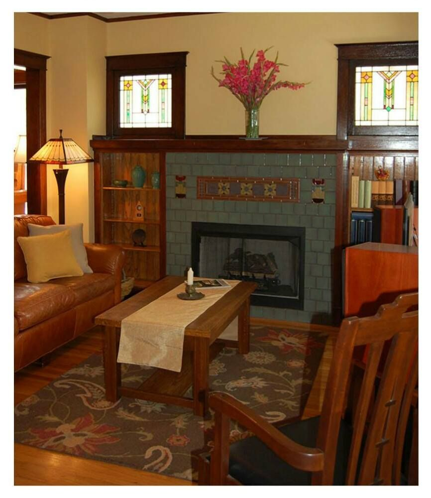 Arts and crafts craftsman mission stickley greene - Arts and crafts bungalow interiors ...