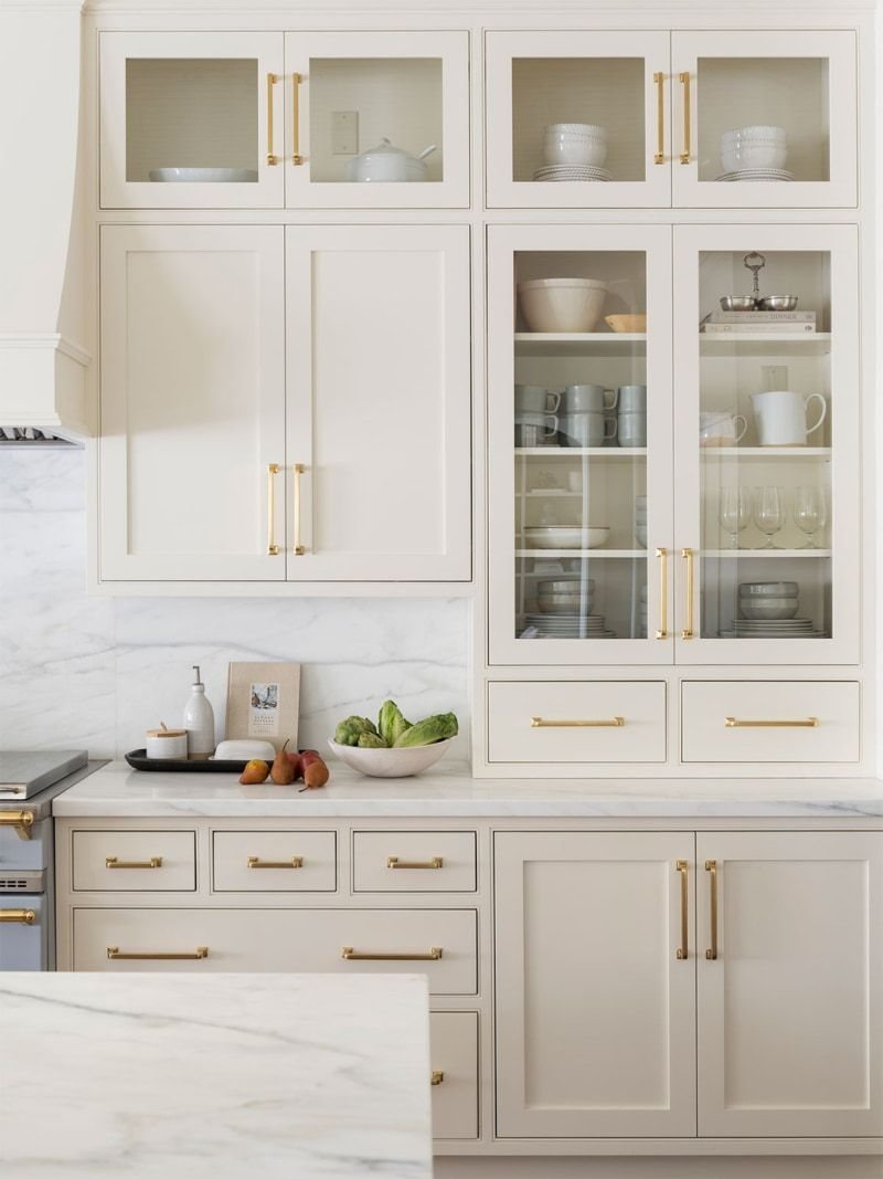 6 Cream Kitchen Cabinets To Help You Think Beyond All White In 2020 Kitchen Cabinet Design Beige Kitchen Beige Kitchen Cabinets