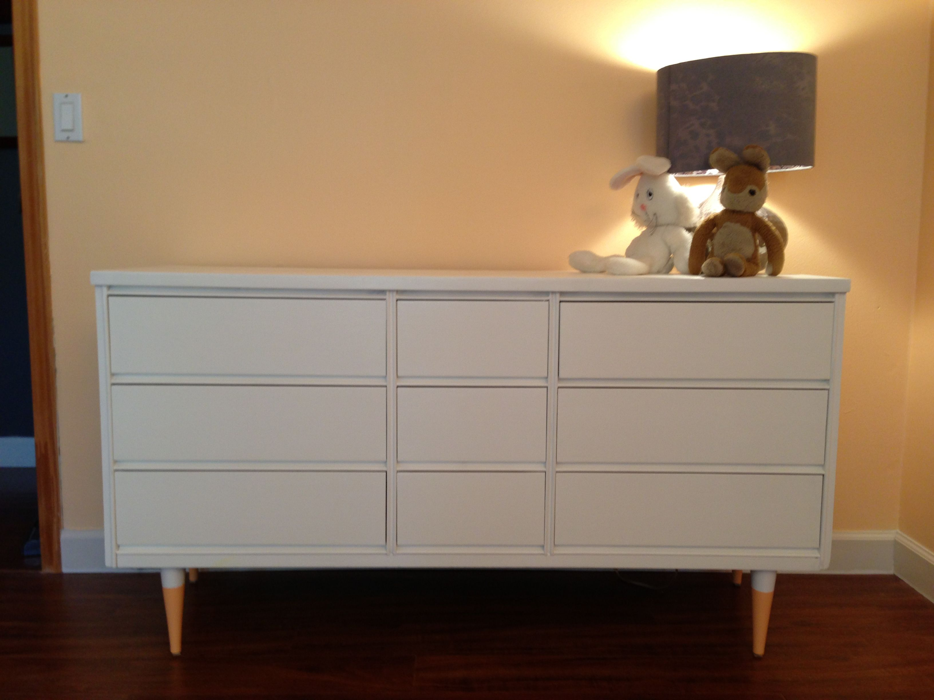 Refinished mid-century modern dresser / changing table ...