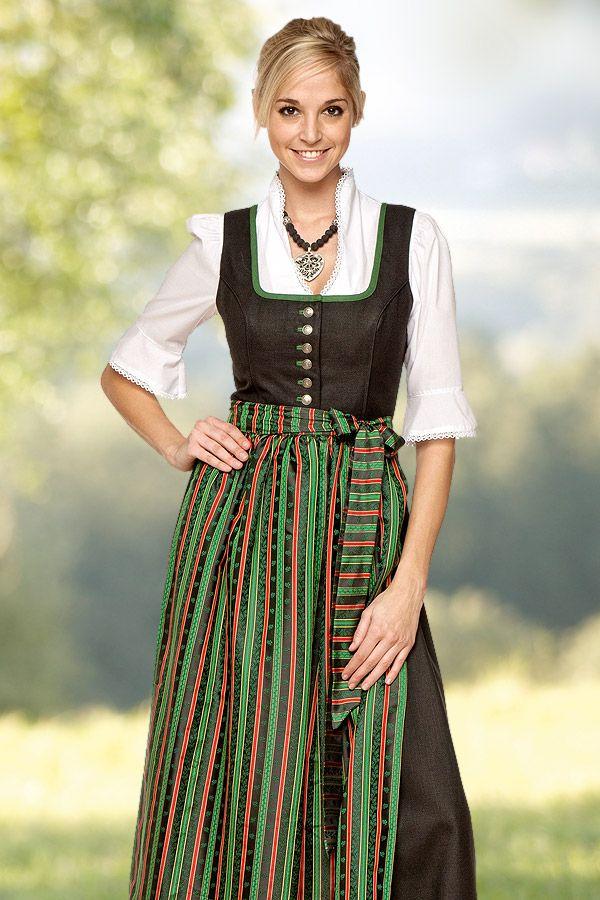 Dirndl Steirer-Tracht von Trachtenmode Hiebaum, schwarz ...