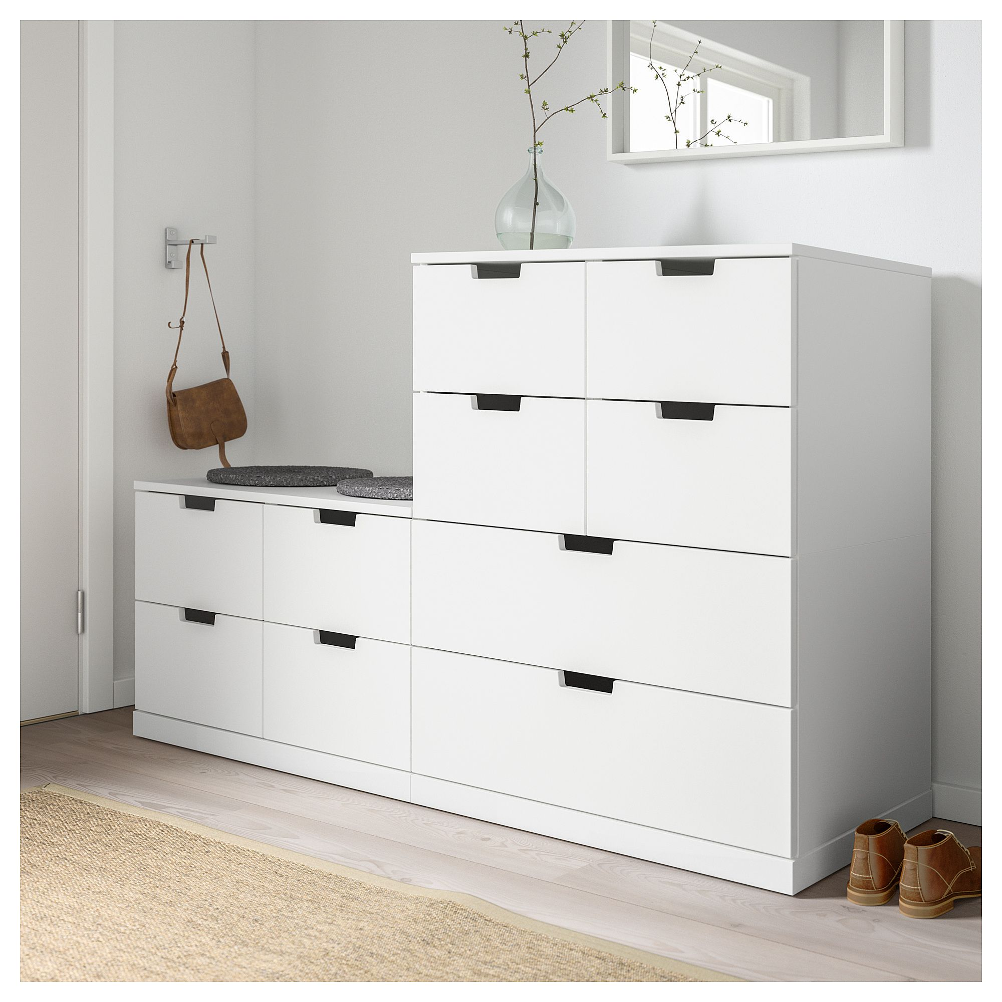 Ikea Möbel Nordli 10 Drawer Chest Nordli White In 2019 Vorzimmer Kommode