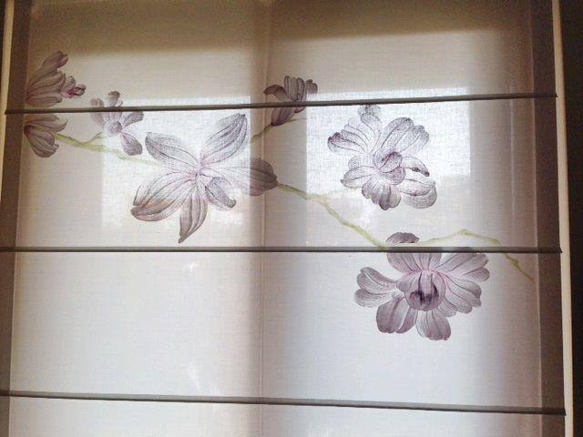 Mantovane Bagno ~ Tendaggio a pacchetto. uno splendido ramo di magnolia dipinto