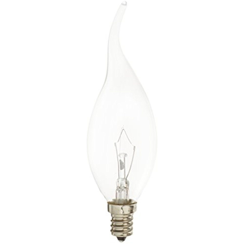 Bulbrite 25ctd C 2 Incandescent Teardrop Ca11 Chandelier Bulb With Candelabra Base 25
