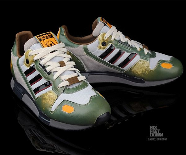 new style 33f27 54d69 Adidas Boba Fett Sneakers  There S a Steep Bounty on These Shoes