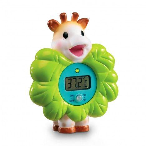 Thermomètre de bain digital Sophie la girafe - 14,90 € - Lumière verte qui s'eclaire lorsque la température est idéale