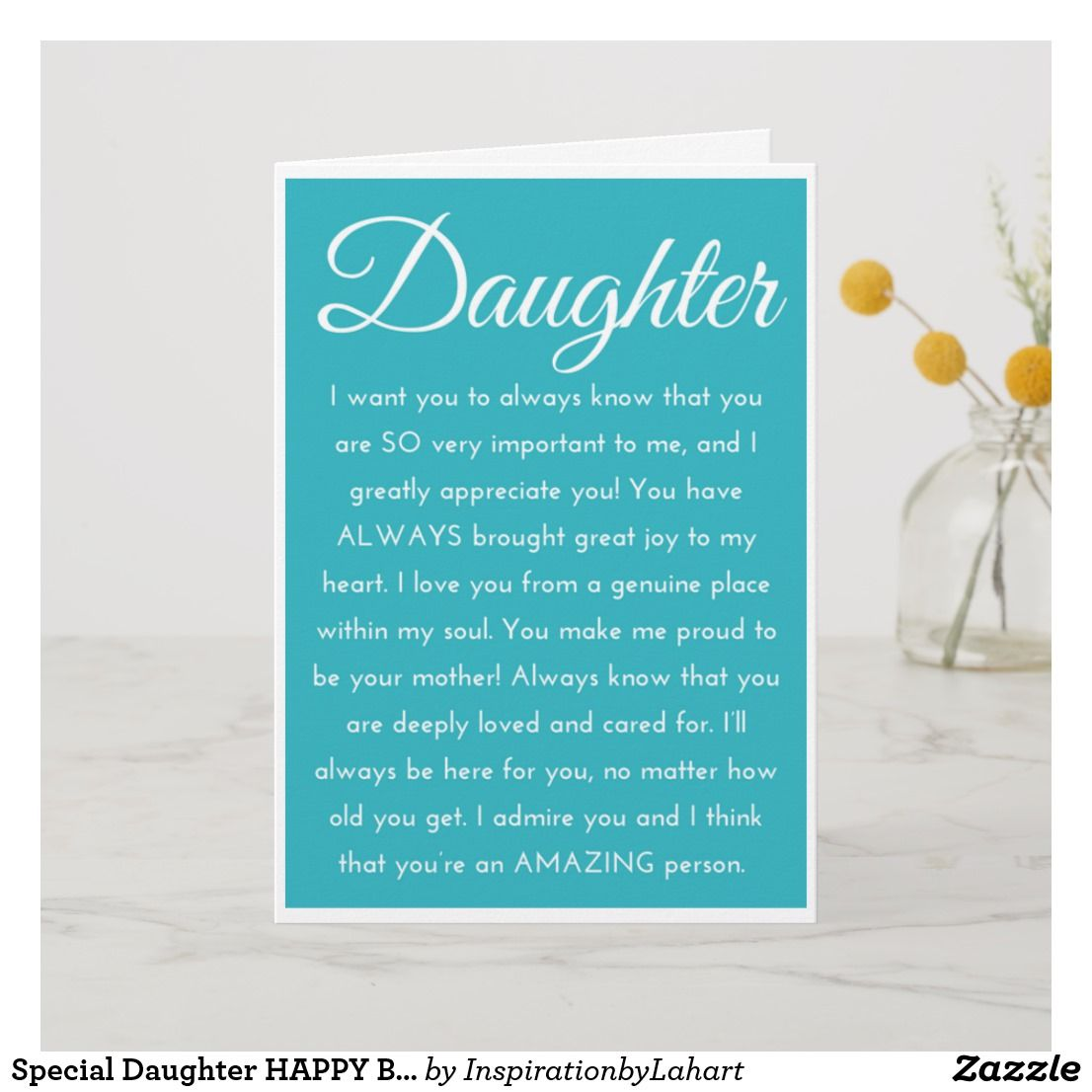 special daughter happy birthday wishes card  zazzle