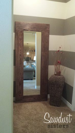 Frame A Mirror With Staple Gun And Wood Glue So Easy Find The