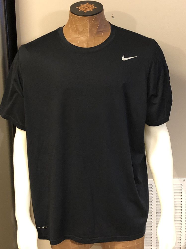 cce7a610021 Nike Mens Dri-Fit Short Sleeve Shirt Black Mens Size XXL #fashion #clothing  #shoes #accessories #mensclothing #activewear (ebay link)