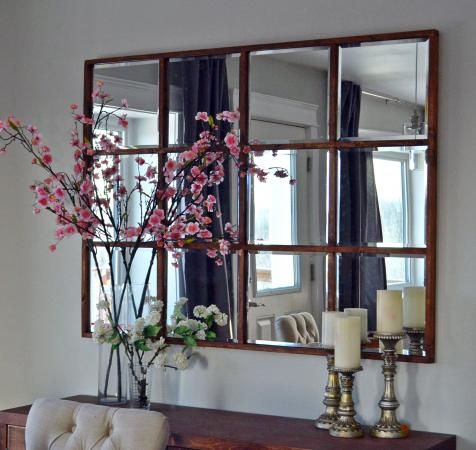 Video Project Tutorial Easy Diy Grid Mirror Home Decor Open Up Any Room In Your Home With A Great Homemade Mirro Living Room Mirrors Home Decor Mirror Tiles