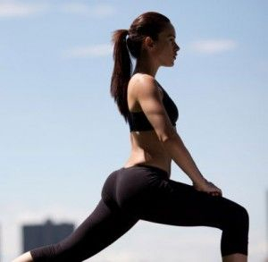 Lunges, they do your booty good!