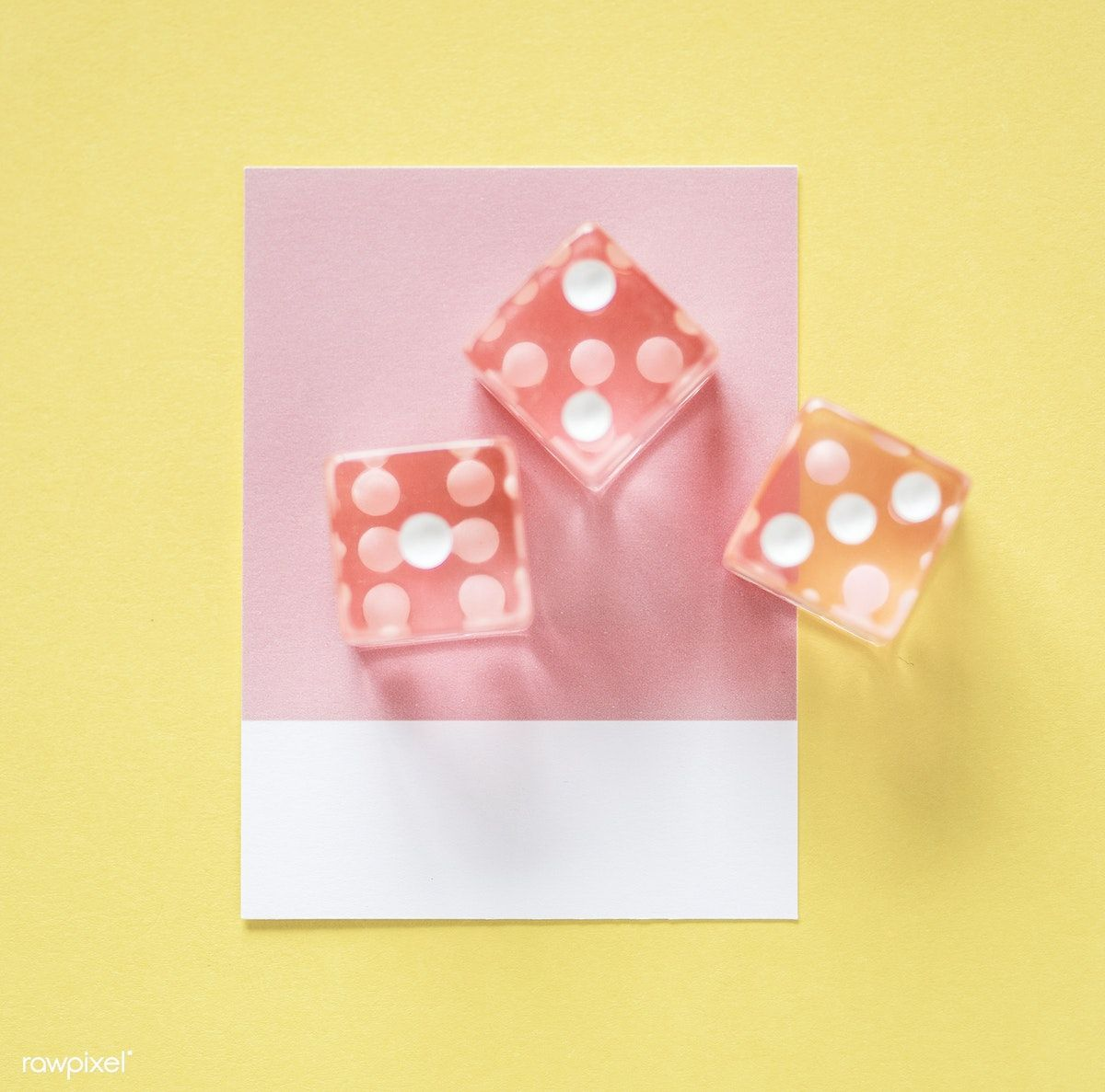 Closeup of dice on a small paper free image by rawpixel