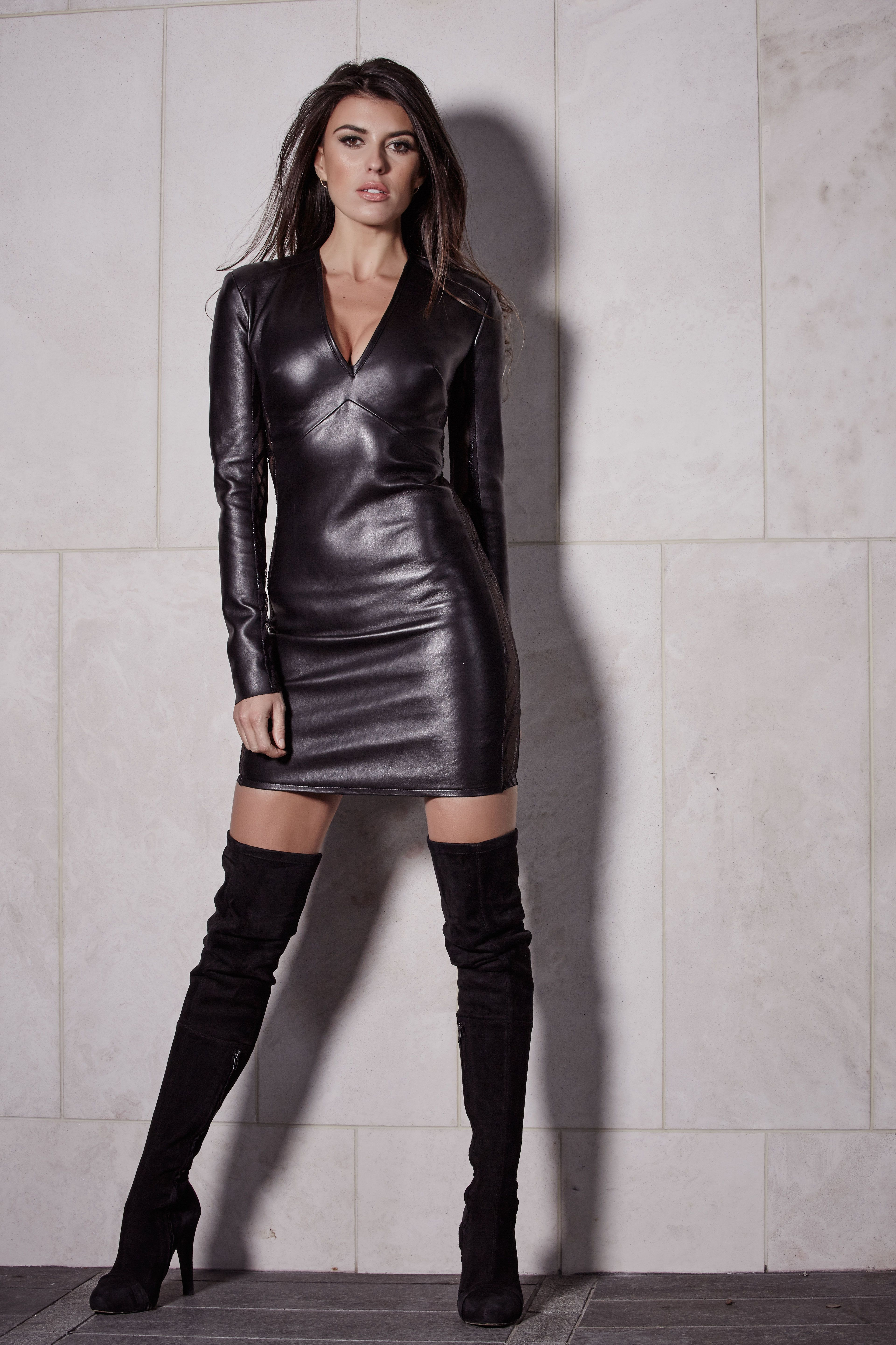 sexy leather fashions