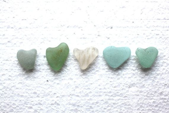Seagl Heart Shaped Sea Gl Jewelry Supplies Art And Craft Supply Surf Tumbled Beach Pebble Stones 44