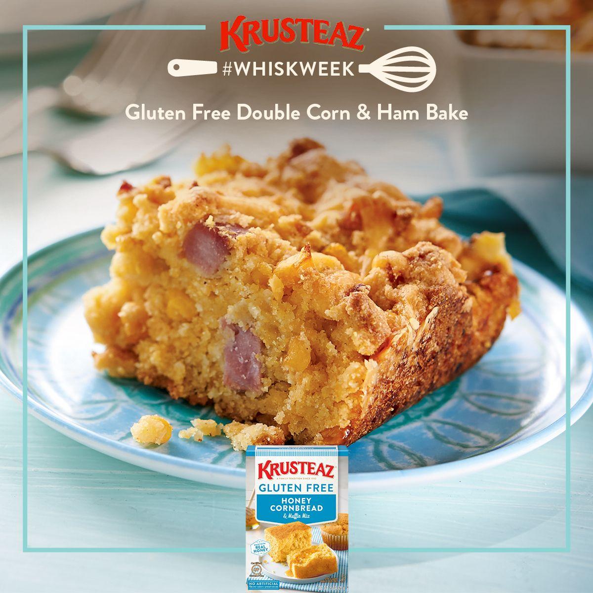 Krusteaz Double Corn Ham Bake Recipe Recipe In 2020 Honey Cornbread Krusteaz Gluten Free Gluten Free Recipes Easy