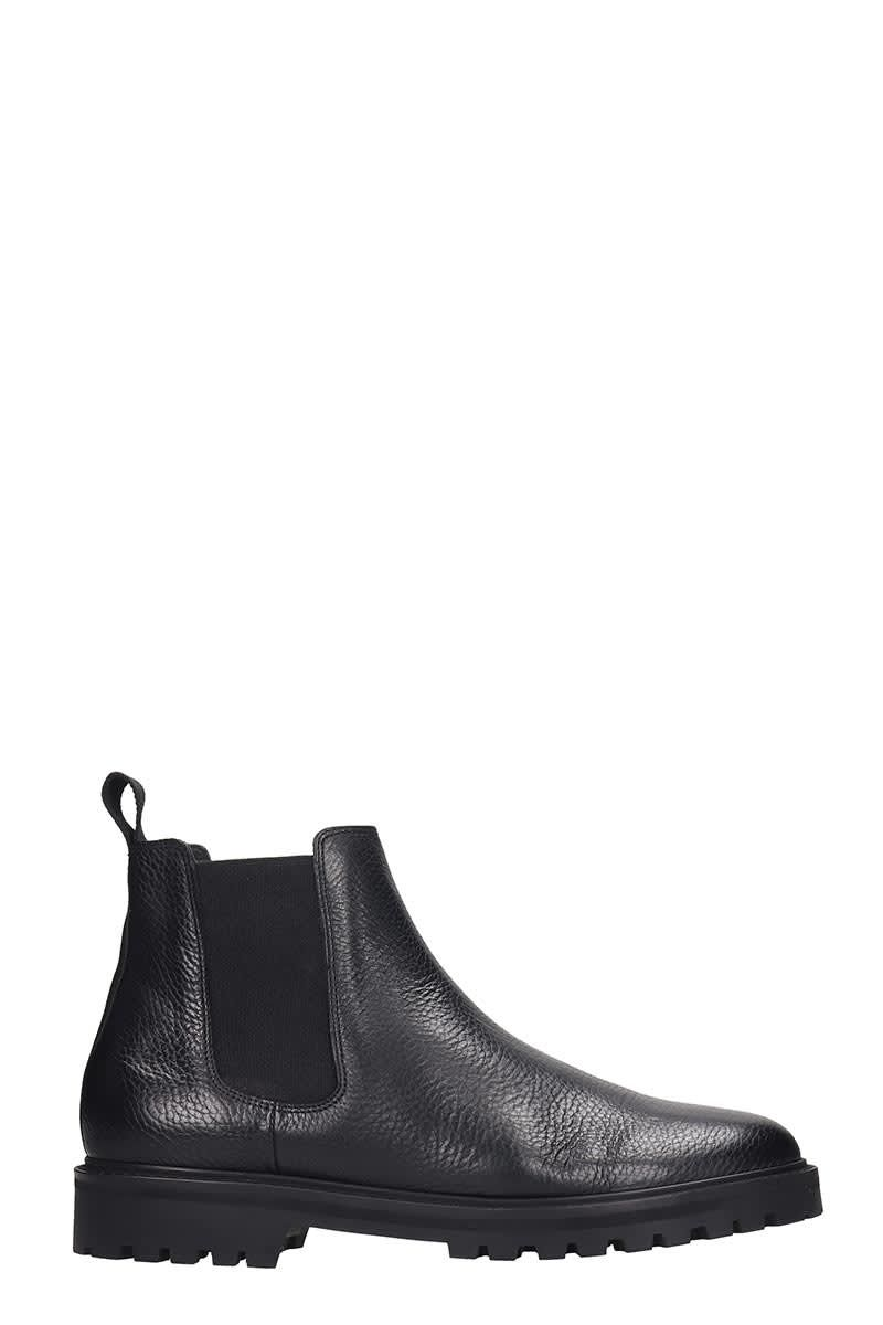 ETQ. CB 01 ANKLE BOOTS IN BLACK LEATHER