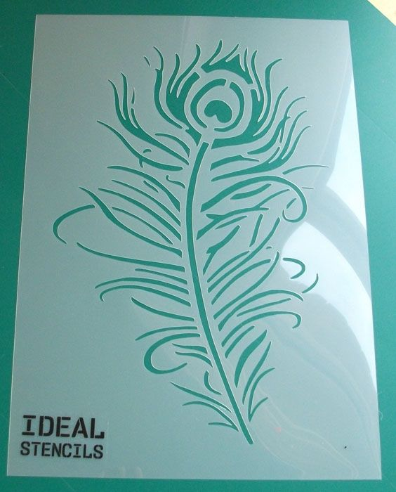 Pea Feather Stencil Home Decor Craft