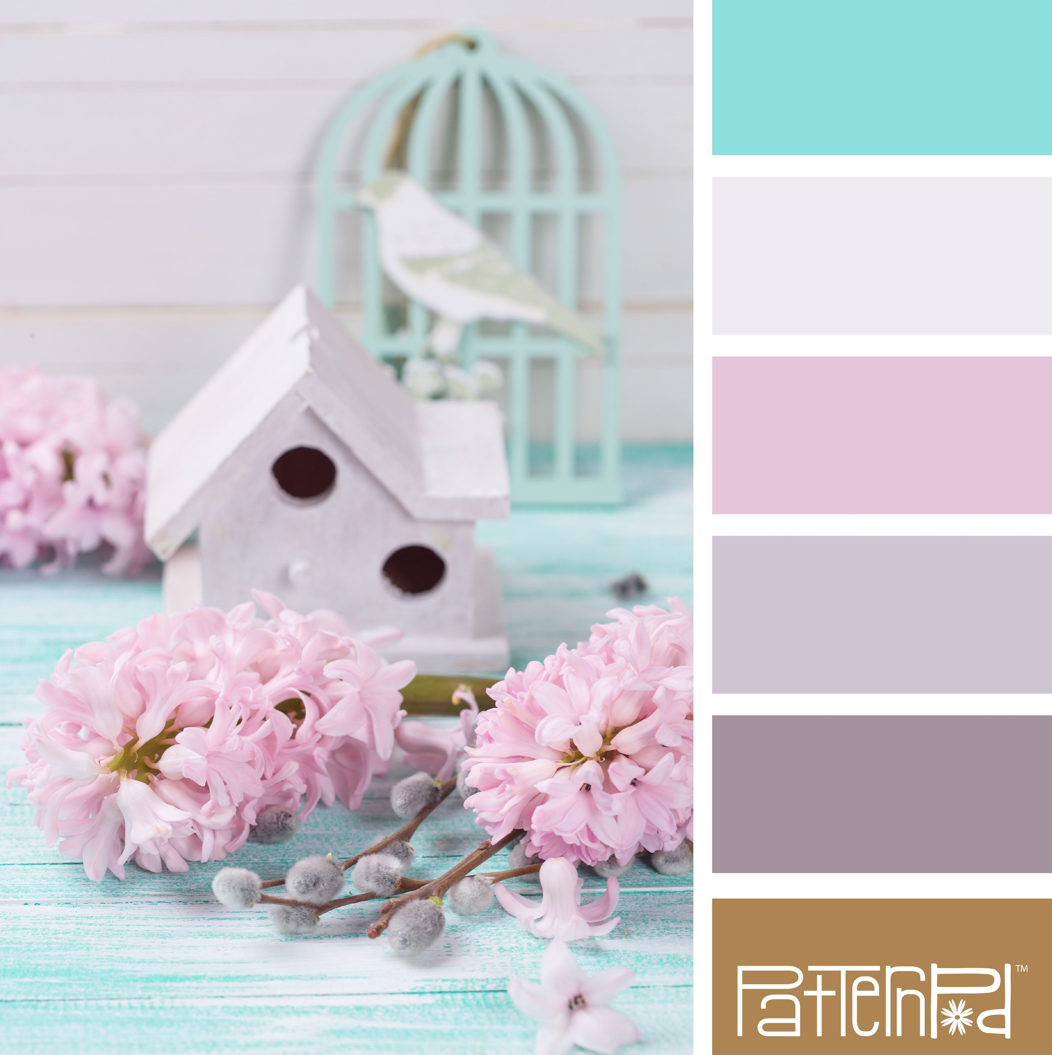 Color Palette: Teal, Lavender, and Gold. If you like our color inspiration, sign up for our monthly trend letter here - http://patternpod.us4.list-manage.com/subscribe?u=524b0f0b9b67105d05d0db16a&id=f8d394f1bb&utm_content=buffer847d9&utm_medium=social&utm_source=pinterest.com&utm_campaign=buffer
