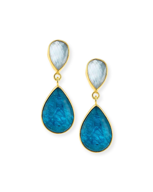 Dina Mackney Five Turquoise Drop Earrings d4qkmkCAB