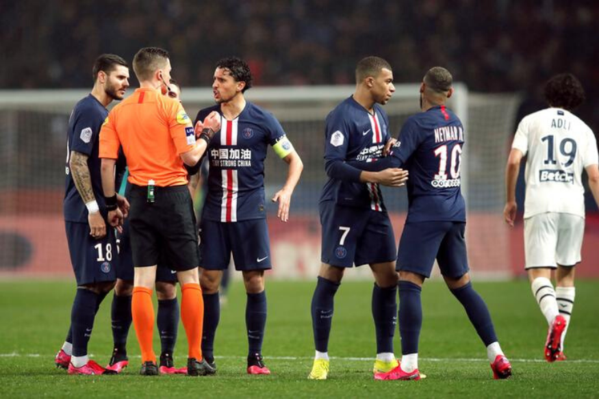 Ligue 1 Neymar Sent Off as PSG Beat Bordeaux in 7goal