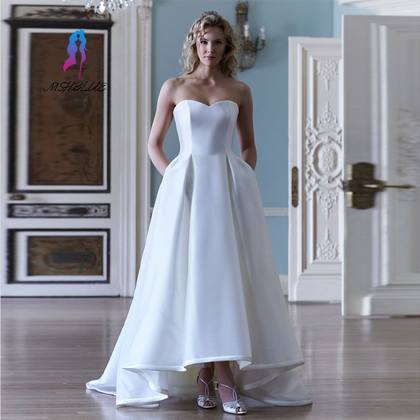 Simple Low Key Wedding Dresses: >> Click To Buy