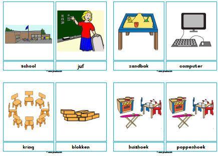 Woordkaarten School 187 Juf Sanne Een Nieuw Schooljaar