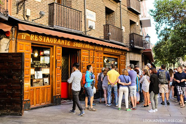 Eat at the Oldest Restaurant in the World according to Guinness Book of World Records (21 Remarkable Things to Do in Madrid Spain).