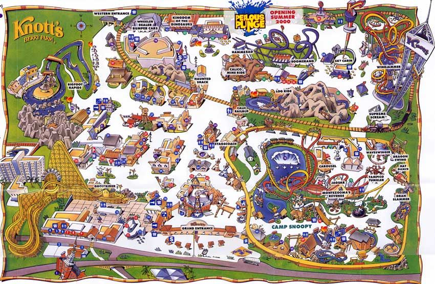 Knott's Berry Farm - Theme Park Brochures | california dreamin' in on usc map, knott's map, kings island map, amtrak map, six flags map, buena park map, chino hills state park map, cedar point map, disneyland map, dollywood map, disney map, hersheypark map, universal studios map, dorney park map, great america map, santa monica map, los angeles map, san diego map, university of southern california map, sesame place map,
