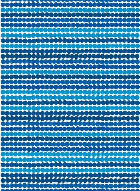 Marimekko Laukku Sininen : R?symatto kangas valkoinen sininen marimekko finland