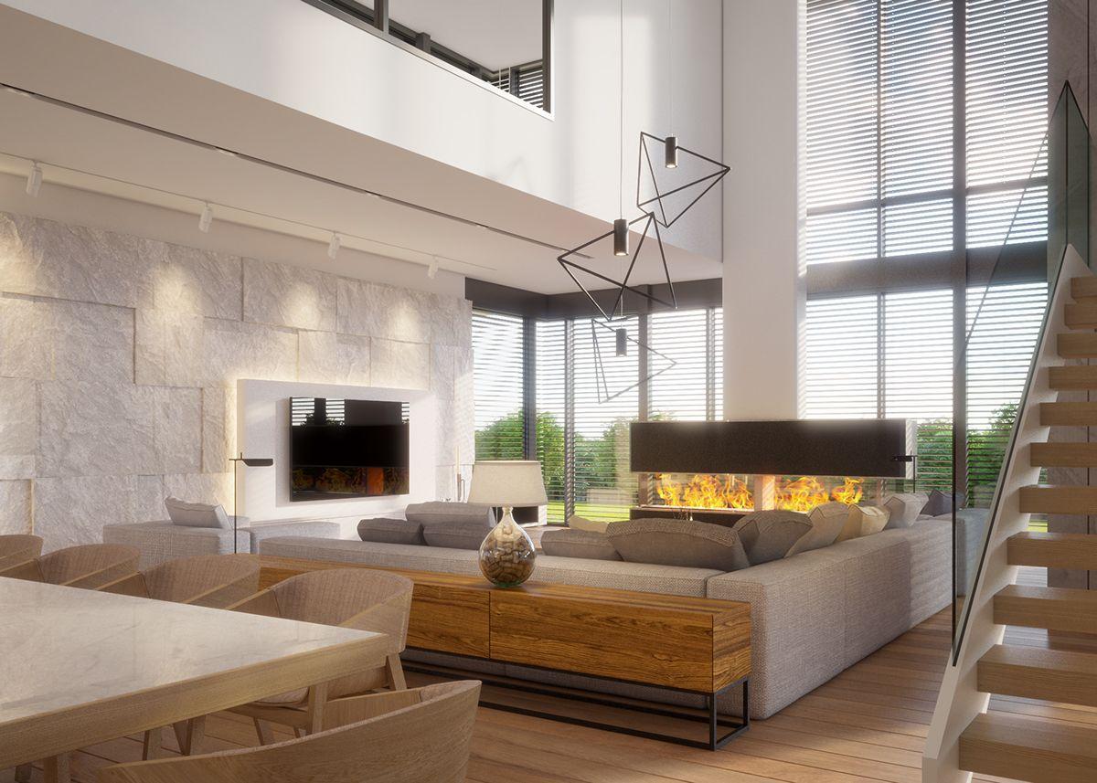 Warm Modern Interior Design Vis For