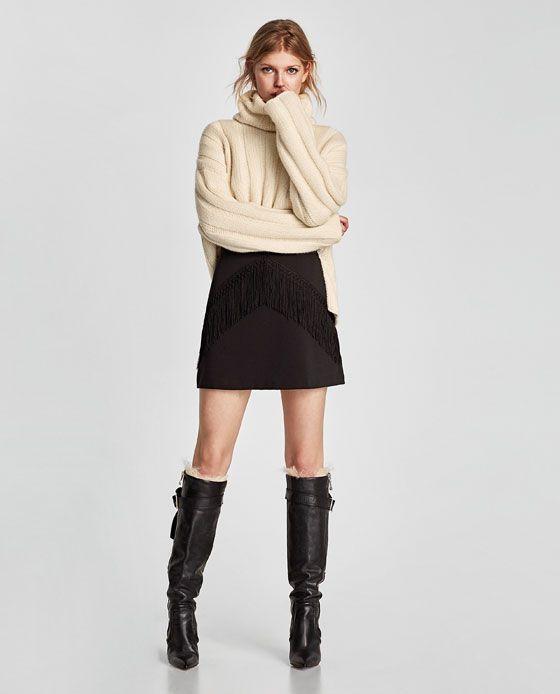 13708d00d FALDA MINI FLECOS en 2019 | miniskirts boots | Flecos, Faldas y Mini