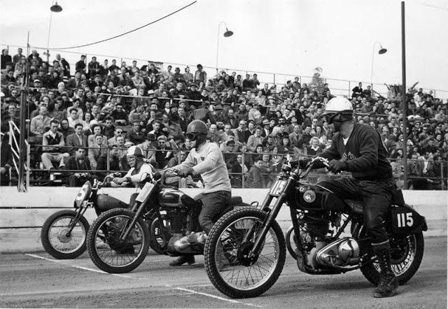 Vintage bike racing