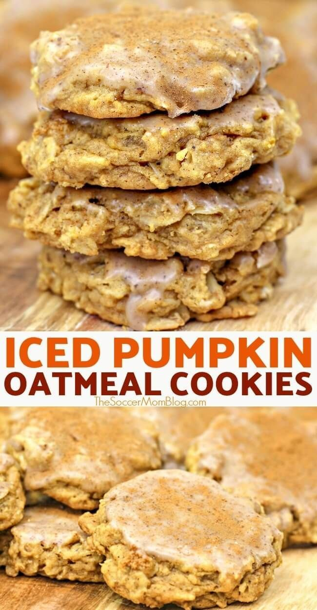 Oatmeal Cookies If you love oatmeal cookies then our delicious pumpkin oatmeal cookies with cinnamon icing are a musttry Iced pumpkin cookies are a fabulous fall treat Tr...