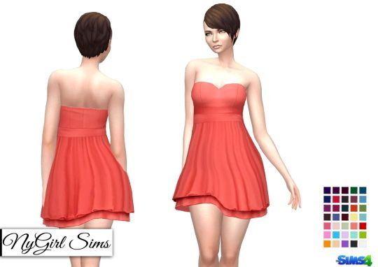NY Girl Sims: Layered Sweetheart Sundress • Sims 4 Downloads