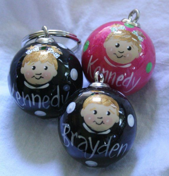 Keychain with 3 kids faces,Mother's Day gift, painted faces on keychain, custom keychain, portrait keychain, key fob with face, personalized