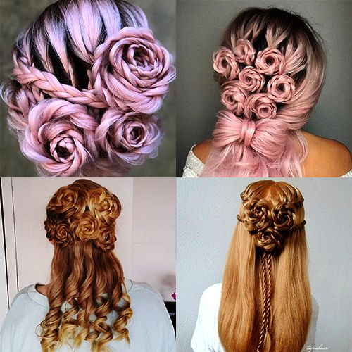Rose Braid Hairstyles are collection of flower braid ideas, both beautiful and sweet and looks ...