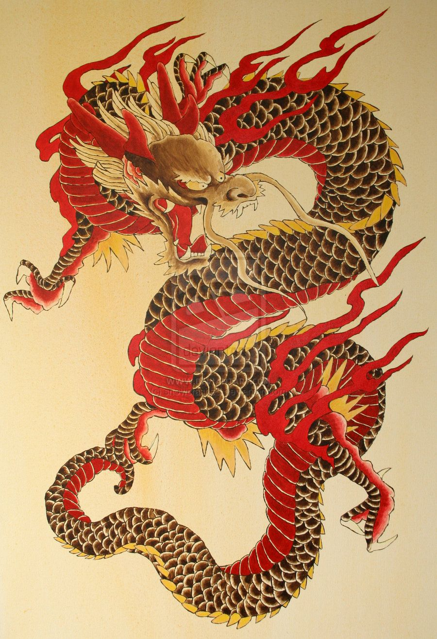 The dragon by on deviantart for Japanese dragon painting