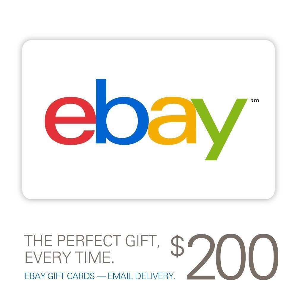 Ebay Gift Card 10 To 200 Email Delivery Ebay Gift Itunes Gift Cards Gift Card Deals