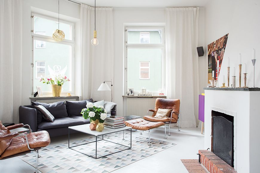 Sunny and tastefully renovated swedish apartment pinterest