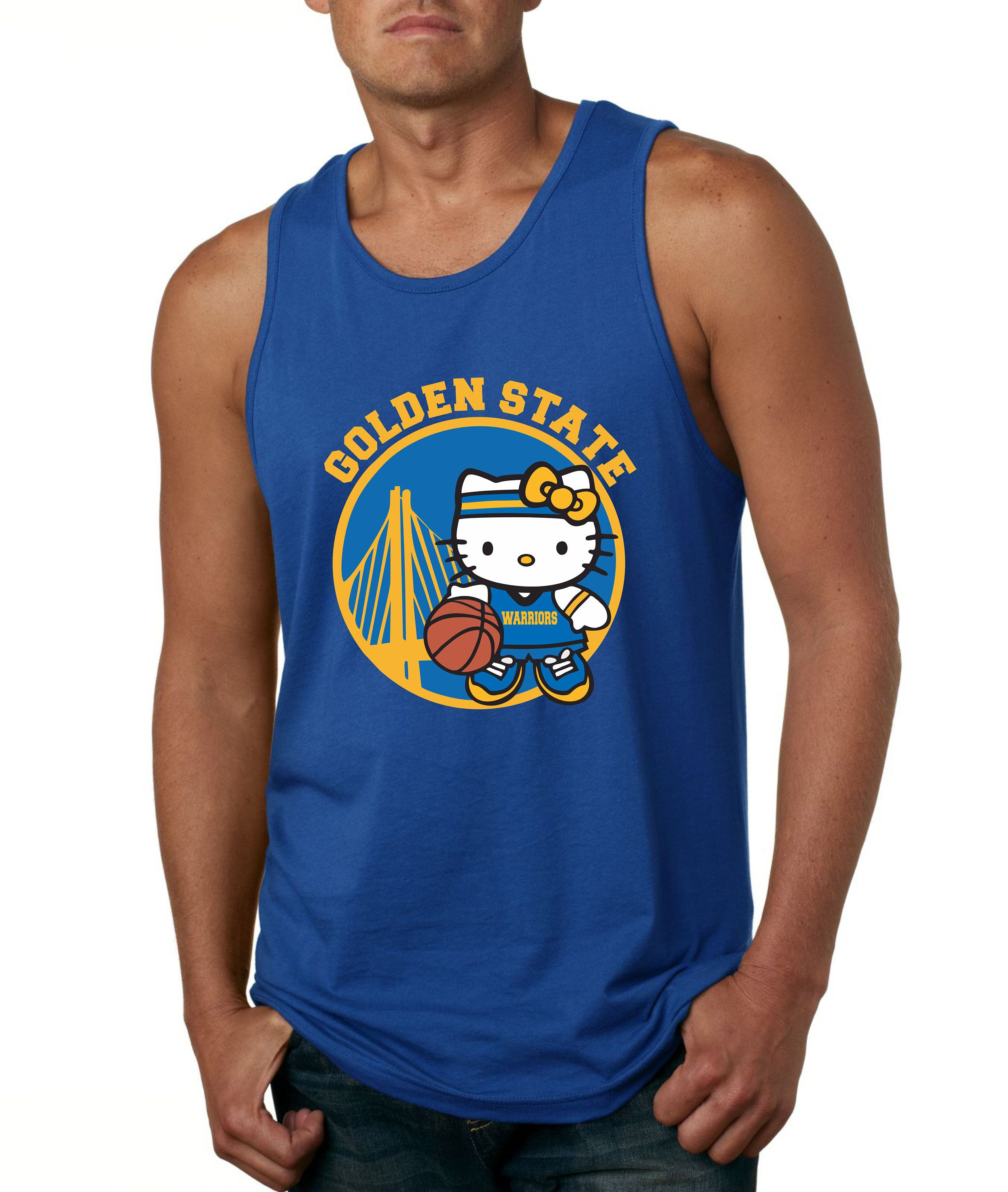 Hello Kitty Golden state ,champions Warriors,Tee shirt basketball love sport nice cute tanktop,v-neck,crew neck by GoCustom on Etsy