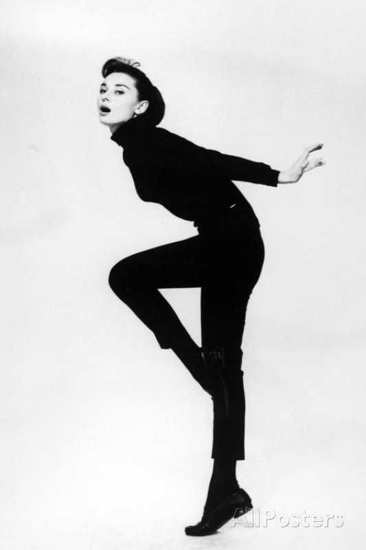 """'Audrey Hepburn. """"Funny Face"""" 1957, Directed by Stanley Donen' Photographic Print - 