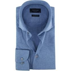 Photo of Profuomo Knitted Jersey Hemd Hellblau Profuomo