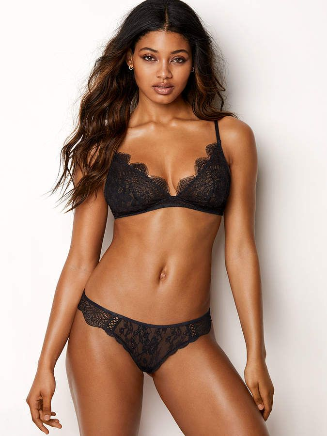 f1dce8bf21f The Bralette Collection Floral Lace Plunge