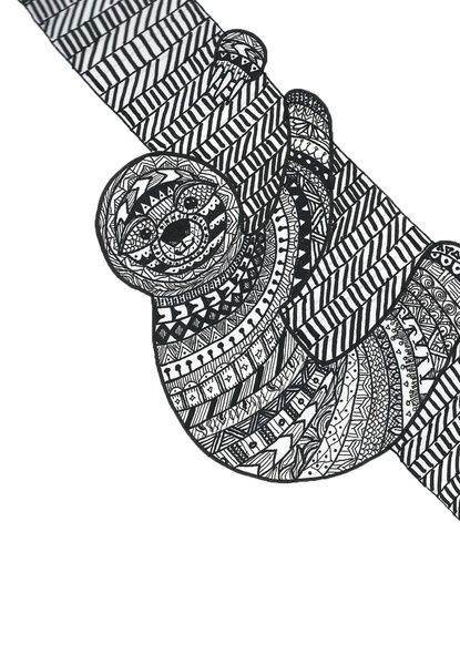Zentangle sloth
