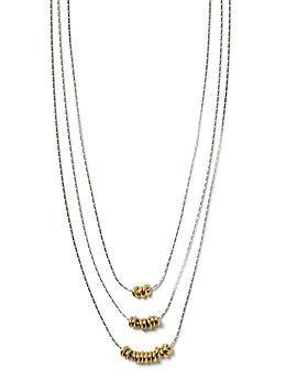 Triple Slider Necklace