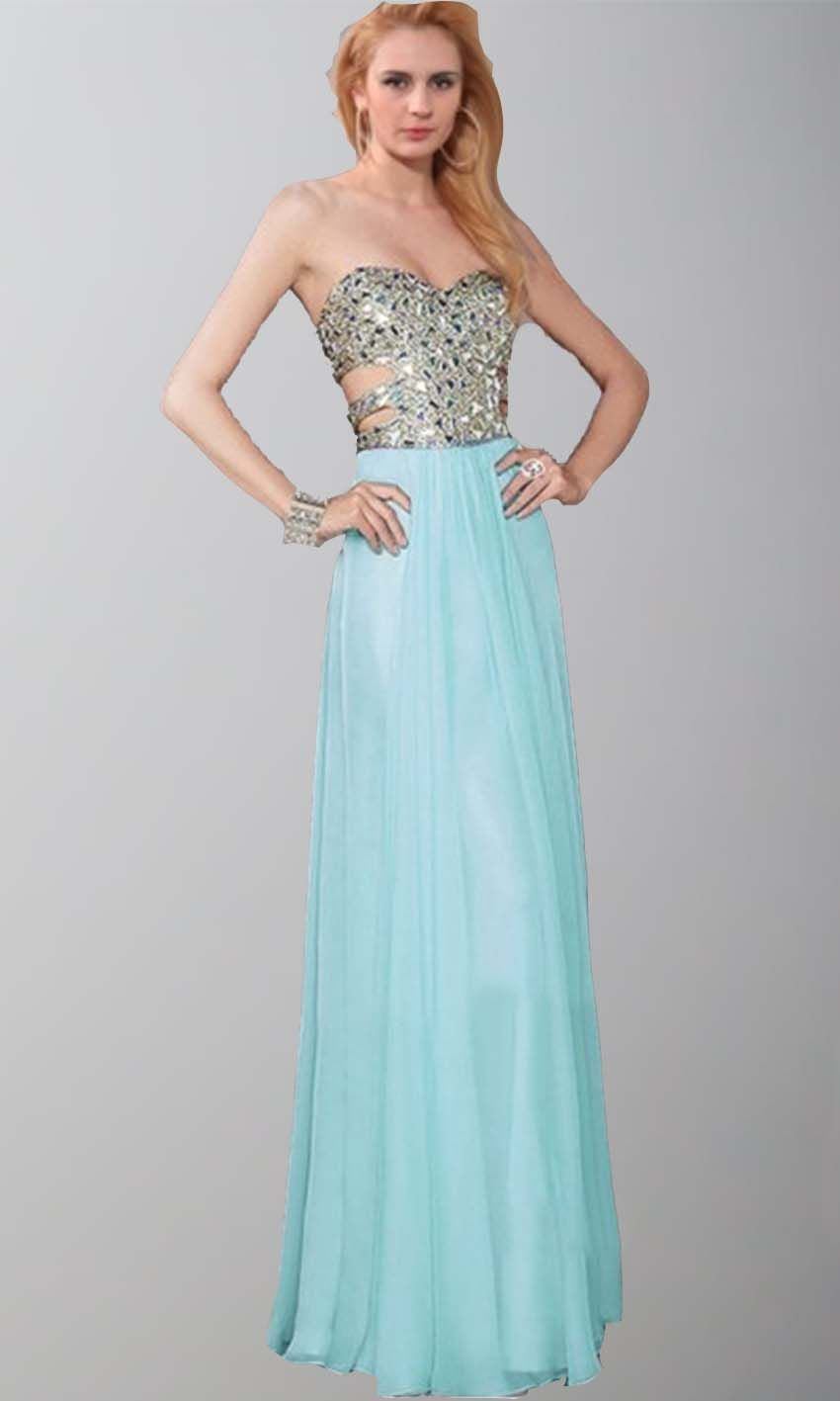 Cut Out Sweetheart Glitter Long Teal Prom Dresses UK KSP395 | uk ...