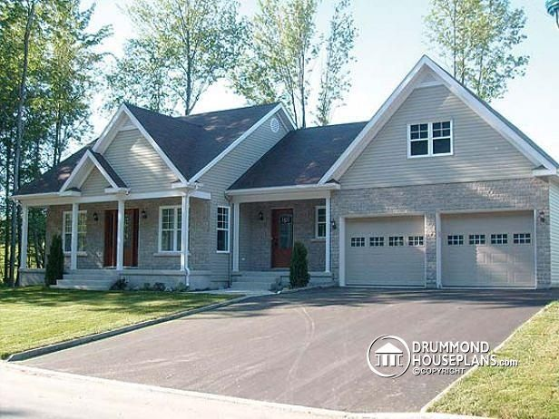 Colonial House Plan With 3 Bedrooms, Master Suite And Double Garage By  DrummondHousePlans : Http