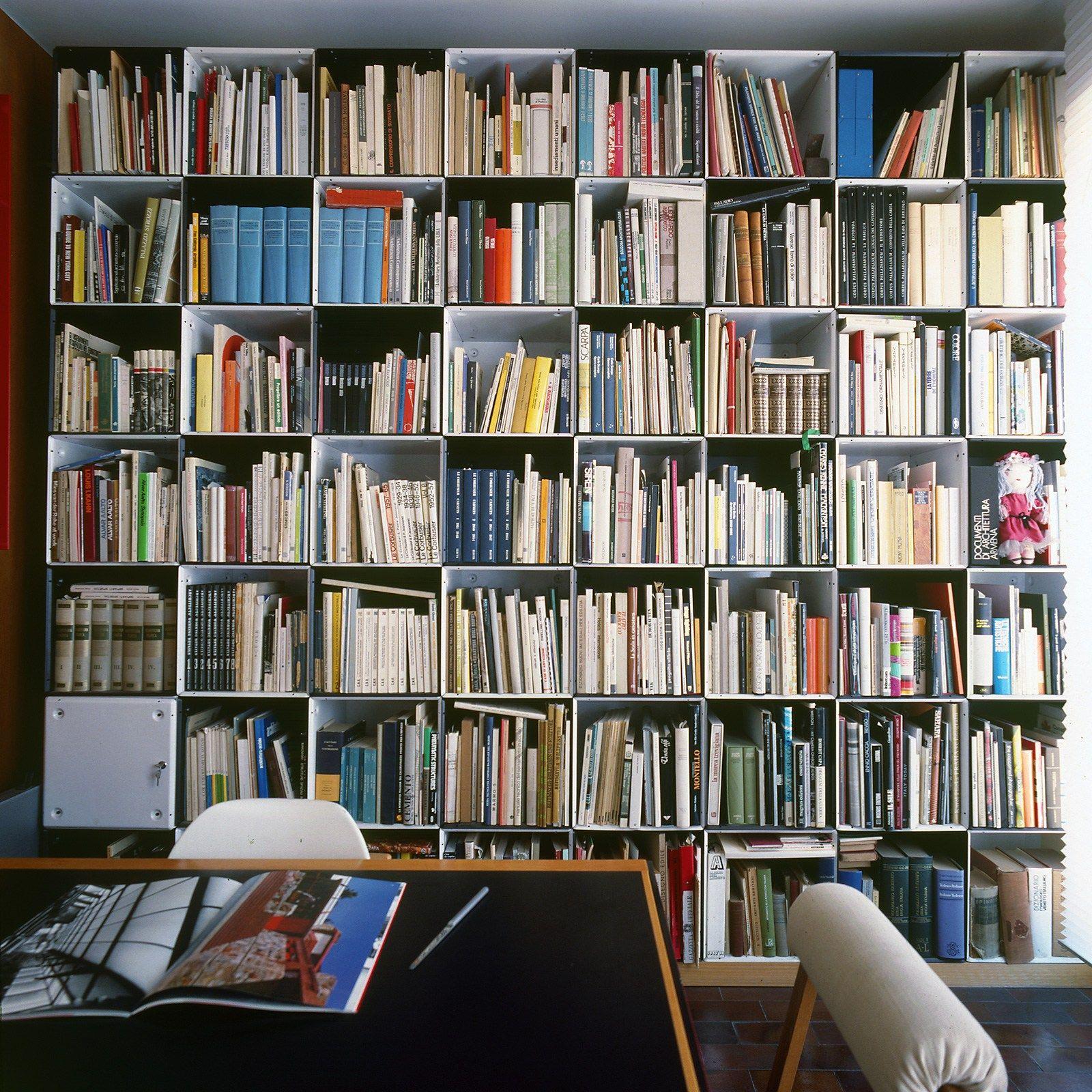 Libreria ufficio a giorno modulare in alluminio BOX By ...